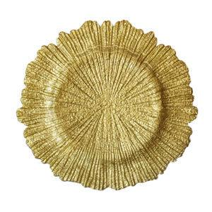 тарелка Коралл золото