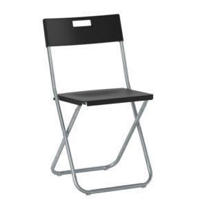 Складной стул Гунде черный