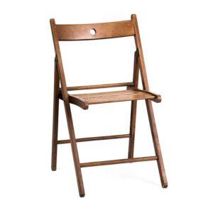 Складной стул Терье коричневый