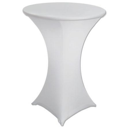 Скатерть стрейч для коктейльного стола белая