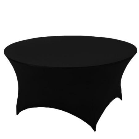 Скатерть стрейч для круглого стола черная