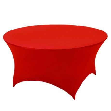 Скатерть стрейч на круглый стол красная
