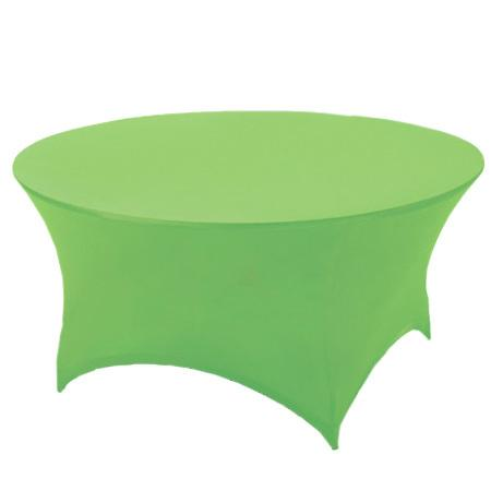 Скатерть стрейч для круглого стола зеленая