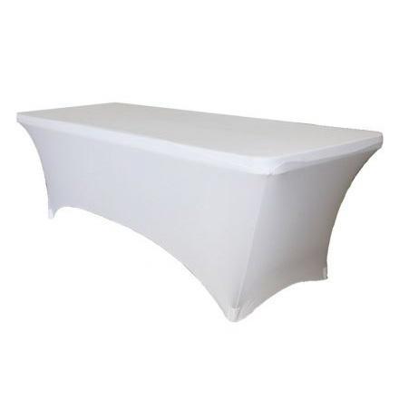 Скатерть стрейч для прямоугольного стола белая