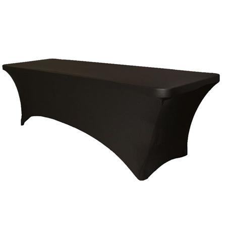 Скатерть стрейч для прямоугольного стола черная