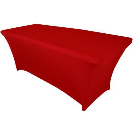 Скатерть стрейч для прямоугольного стола красная
