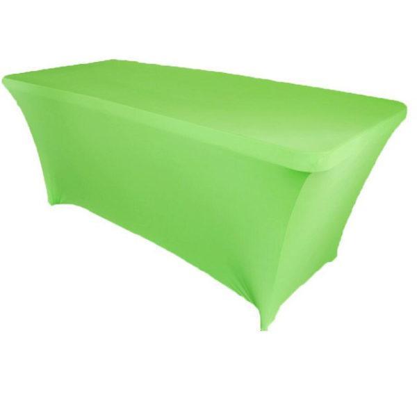 Скатерть стрейч для прямоугольного стола зеленая