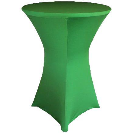 Скатерть стрейч для коктейльного стола зеленая