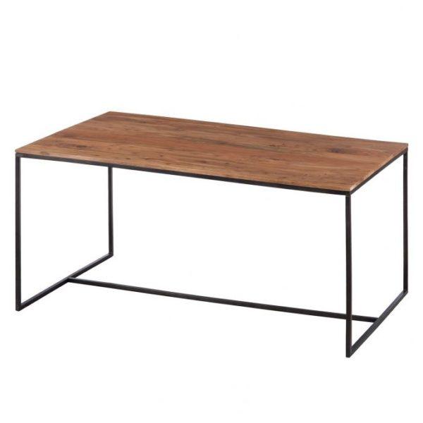 деревянный стол лофт темный