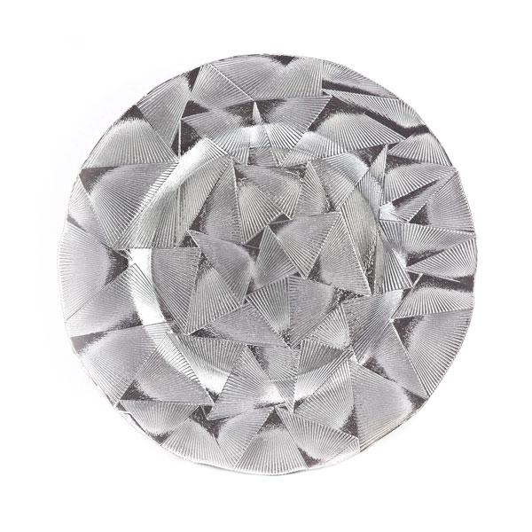 тарелка геометрия серебро
