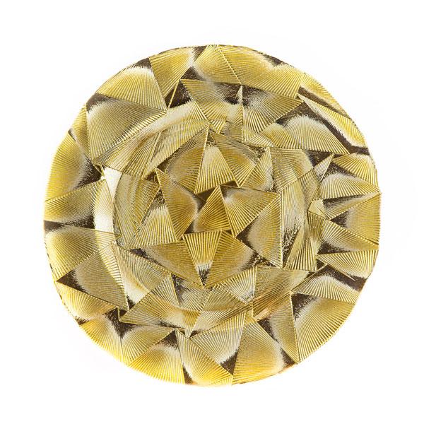 тарелка геометрия золото