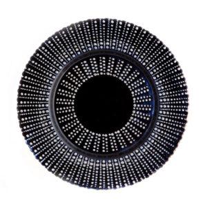 Тарелка Grass черная