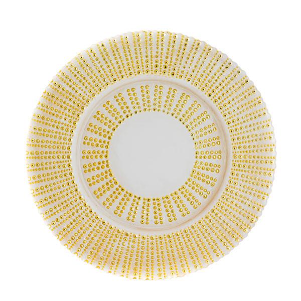 тарелка grass золото