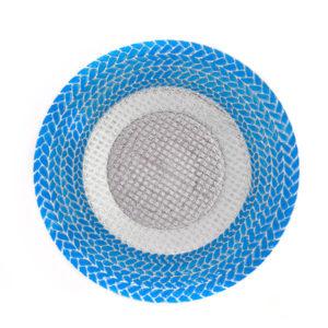 Тарелка Колосок голубая
