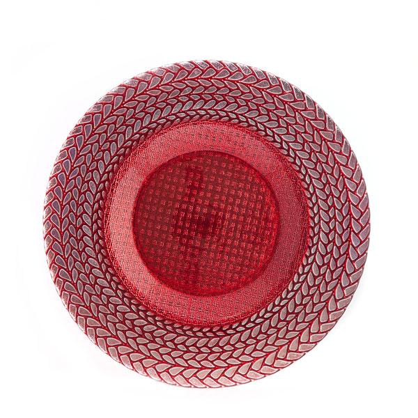 тарелка колосок красная