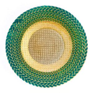 Тарелка Колосок зеленая