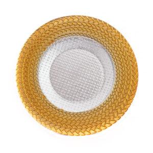 Тарелка Колосок золото