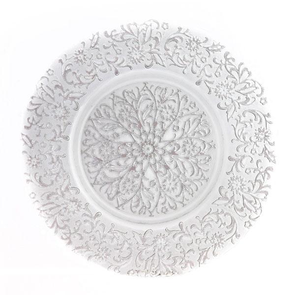 тарелка узоры серебро