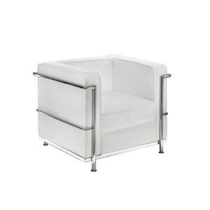 Кресло белое Chrome White