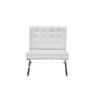 Кресло белое Barcelona White