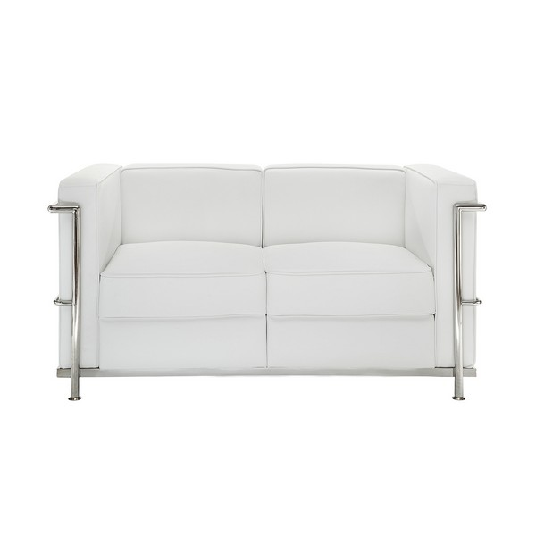 аренда 2-местного дивана Chrome White Sofa
