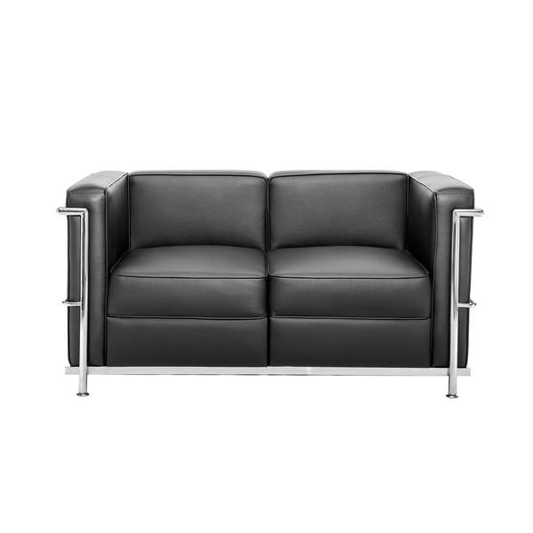 Chrome Black Sofa 2-местный диван в прокат