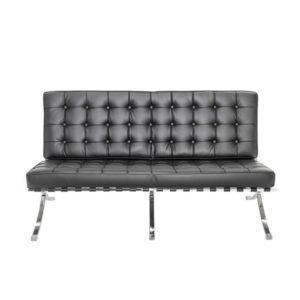 Диван 2-местный Barcelona Black Sofa