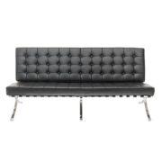 Диван 3-местный Barcelona Black Sofa