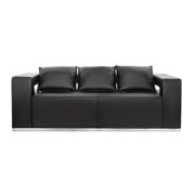 Диван 3-местный Hi-Tech Black Sofa
