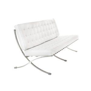 Диван 3-местный Barcelona White Sofa
