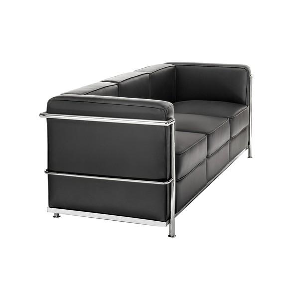 Chrome Black Sofa
