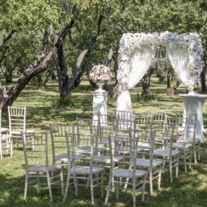 Белая арка для свадьбы