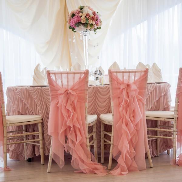 Декор стульев на свадьбу - на заказ - Москва
