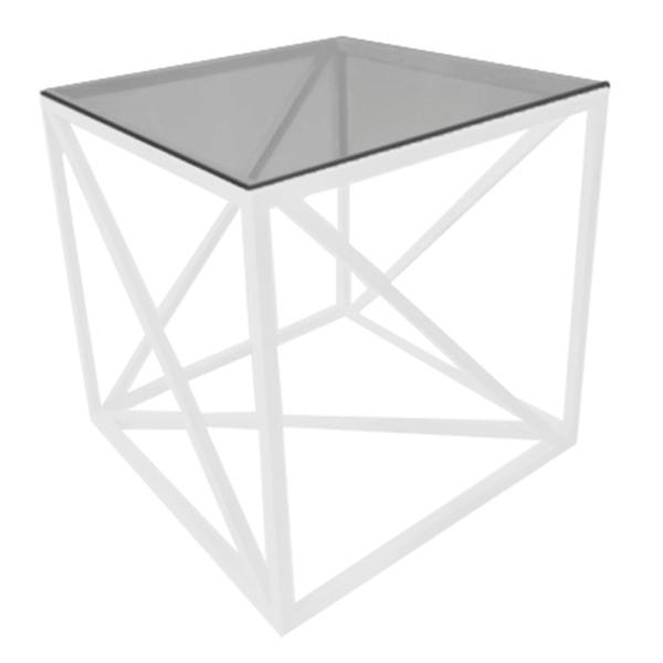 Аренда столажурнального Loft белого со стеклянной столешницей